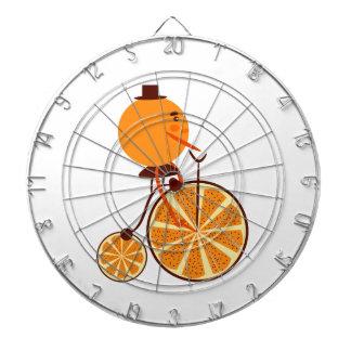 Tour orange jeu de fléchettes