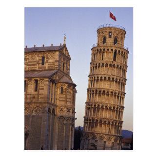 Tour penchée de l'Italie, Toscane, Pise de Pise et Carte Postale