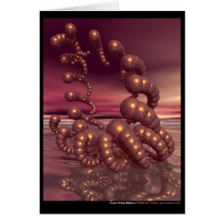 Tourbillon de cuivre de crevette carte de vœux
