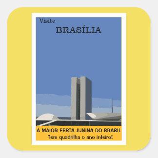 Tourisme à Brasilia Sticker Carré