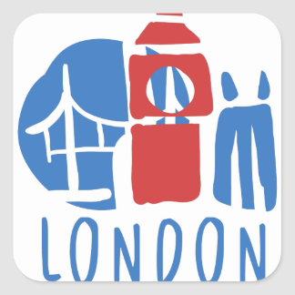 Tourisme de Londres Sticker Carré