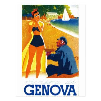 Tourisme vintage de Gênes Italie Carte Postale