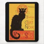 Tournée du Chat Noir, cru de chat noir de Steinlen Tapis De Souris
