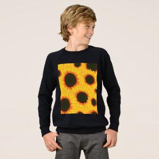 Tournesol coloré de motif de ressort sweatshirt