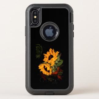 tournesol de défenseur de l'iPhone X OtterBox