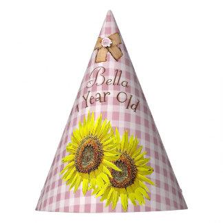 Tournesol de jaune de rose de casquette de fête chapeaux de fètes
