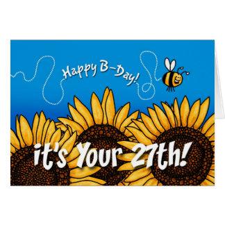 tournesol de traînée d'abeille - 27 années carte