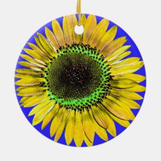 Tournesol jaune abstrait de beauté d automne sur l décorations de noël