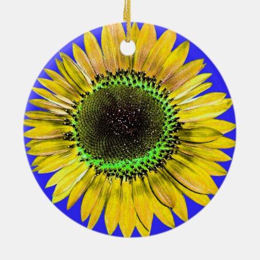 Tournesol jaune abstrait de beauté d'automne sur l décorations de noël