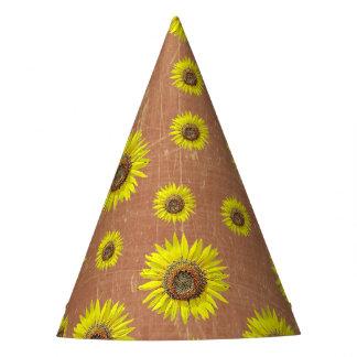Tournesol jaune de Brown de casquette de fête Chapeaux De Fètes