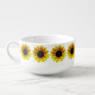 Tournesol jaune lumineux mug à soupe