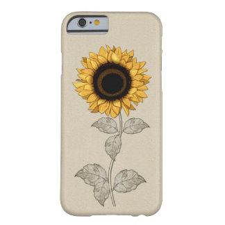 tournesol vintage d'or jaune de cas de l'iPhone 6 Coque iPhone 6 Barely There