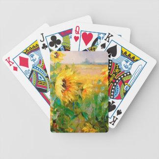 Tournesols dans le vent jeu de cartes