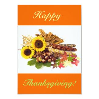 Tournesols de bon thanksgiving V Bristols Personnalisés