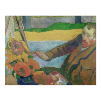 Tournesols de peinture de Van Gogh, 1888 Carte Postale
