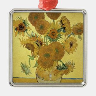 Tournesols de Vincent van Gogh |, 1888 Ornement Carré Argenté