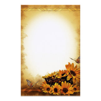 Tournesols et papillons papeterie