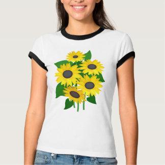 Tournesols impertinents t-shirts