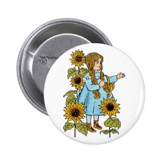 Tournesols vintages de Dorothy de conte de fées de Badge Rond 5 Cm