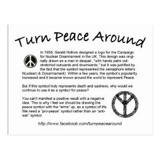 Tournez la paix autour de la carte postale