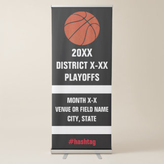Tournoi ou jeu de finales de basket-ball de lycée banderole rétractable