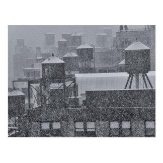 Tours d'eau de NYC pendant la tempête anormale de Cartes Postales