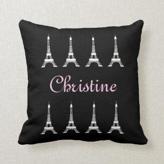 Tours Eiffel français noirs et blancs Girly de Oreillers