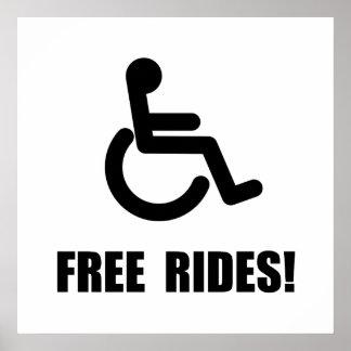 Tours gratuits d'handicap poster