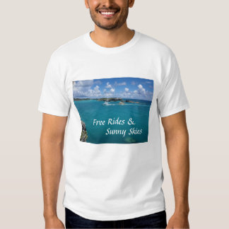 Tours gratuits et pièce en t ensoleillée de blanc t-shirts