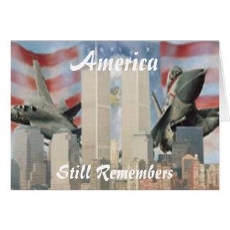 Tours jumelles 9/11 carte de souvenir