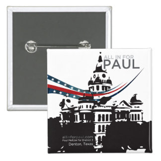 Tous dedans pour Paul - bouton carré Pin's