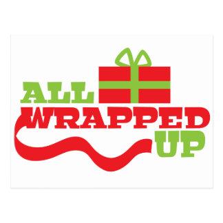 Tous enveloppés ! Conception de cadeau de Noël Carte Postale
