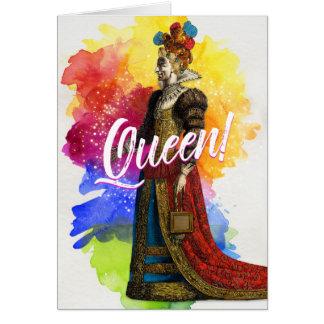 Tous grêlent la carte de voeux de la Reine