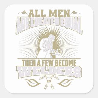 Tous les hommes sont les autocollants égaux créés
