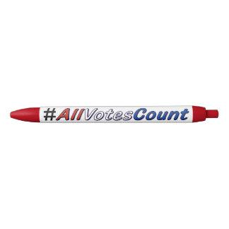 Tous les stylos de coutume de compte de votes