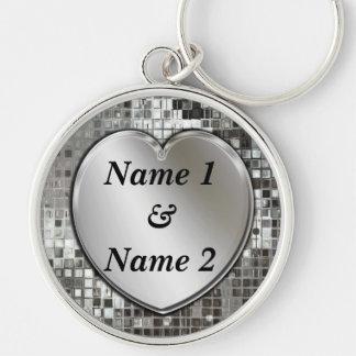 Tous noms sur le grand porte - clé de la meilleure porte-clé rond argenté