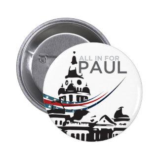 Tous pour Paul - bouton de tribunal Badges