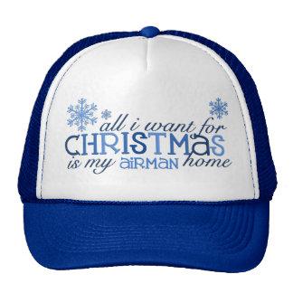 Tous que je veux pour l'aviateur de Noël… Casquette De Camionneur