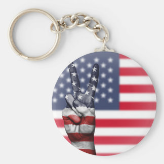 Tout américain porte-clé rond