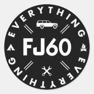 Tout autocollant du logo FJ60 - noir