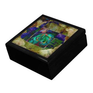 Tout autre s'est levé - vert - boîte décorative grande boîte à bijoux carrée