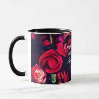 Tout avec amour - tasse rose de coeur