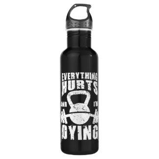 Tout blesse et je meurs - séance d'entraînement bouteille d'eau