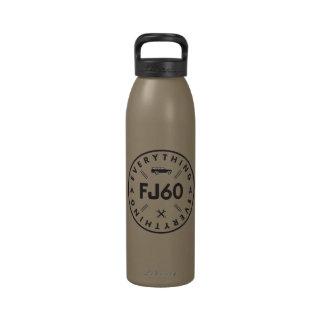Tout bouteille d'eau du logo FJ60
