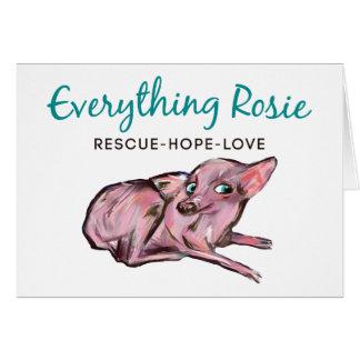 Tout carte de note de Rosie