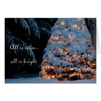 Tout est calme… que tout est bright1 carte de vœux