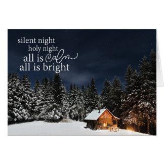 Tout est calme que tout est carte de Noël