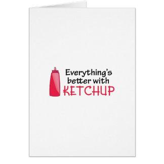 Tout est meilleur avec le ketchup carte de vœux