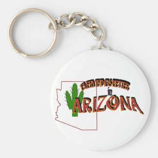 Tout est meilleur dans le porte - clé de l'Arizona Porte-clé Rond