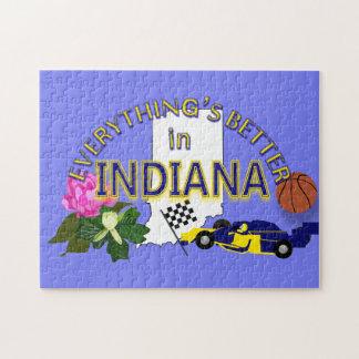 Tout est meilleur dans le puzzle de l'Indiana